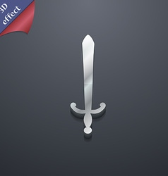 Sword icon symbol 3d style trendy modern design vector