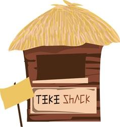 Tiki Shack vector image vector image