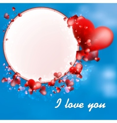 Valentines Day Hearts on blue EPS10 vector image vector image