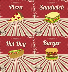 Vintage food theme vector