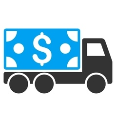 Cash delivery flat icon vector