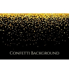 Christmas gold glitter confetti horizontal pattern vector image