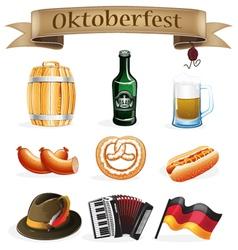 Oktoberfest icons vector