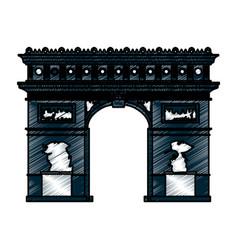 Arch of triumph paris vector