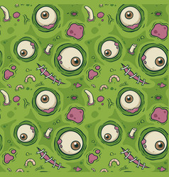 Seamless pattern zombie vector