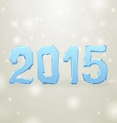 2015 Ice New Year gray background vector image