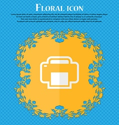 Printing floral flat design on a blue abstract vector