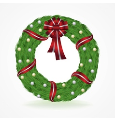 Christmas holiday wreath isolated on white vector
