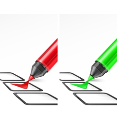 Voting check mark two color vector