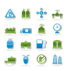 Natural gas objects and icons vector image