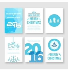 Happy new year 2016 and merry christmas vector