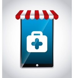 Smartphone and medical kit icon medical and vector