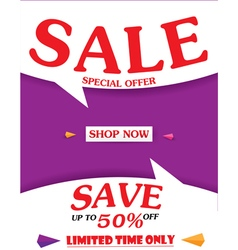 Sale banner and best offer design vector