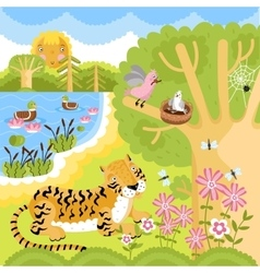 Animals on the forest vector