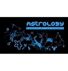 Astrology aspects of the planets vector