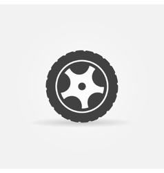 Black wheel icon or logo vector