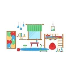Boy baby room set vector image