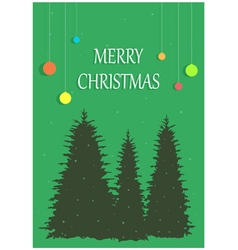 Christmas congratulation on a background three vector