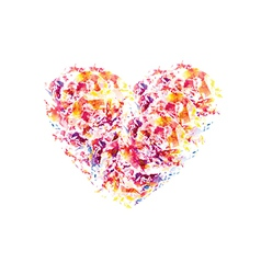 color heart vector image