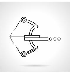Crossbow black line icon vector