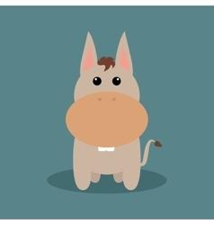 Cute cartoon donkey vector