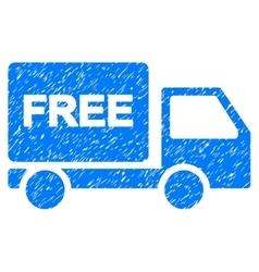 Free delivery grainy texture icon vector