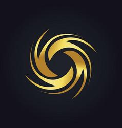 Gold circle spin colorful logo vector