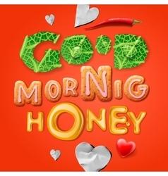 Good morning honey vector