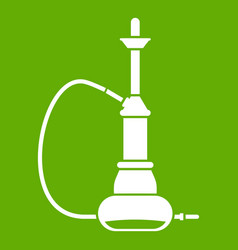 hookah icon green vector image