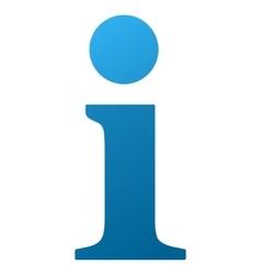Info gradient icon vector