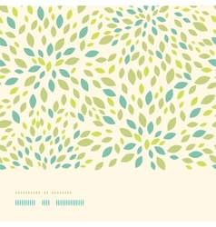 Leaf texture horizontal border seamless pattern vector image