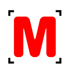 letter m sign design template element red vector image