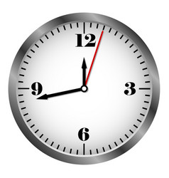 metal clock icon vector image vector image
