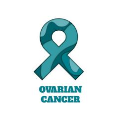 Ovarian cancer awareness papercut ribbon vector