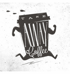 poster take away coffee vector image