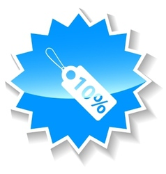 Price tag blue icon vector