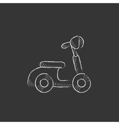 Scooter drawn in chalk icon vector