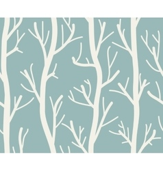 Seamless background with trees vector image vector image
