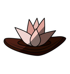 Spa lotus symbol vector