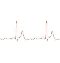 Sseamless ECG graph on white background vector image