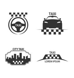 taxi logo vector image vector image