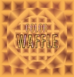 Waffles of different forms with text color logo vector