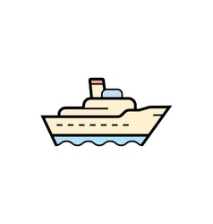 Ship cargo icon vector