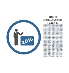 2016 show rounded icon with 1000 bonus icons vector