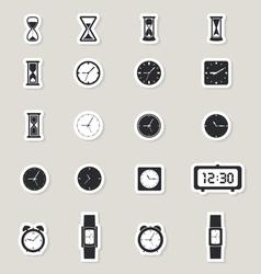 Clock web icons set vector image