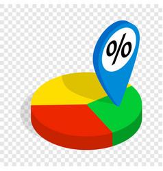 pie chart isometric icon vector image