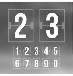 Outline countdown timer white color flat vector