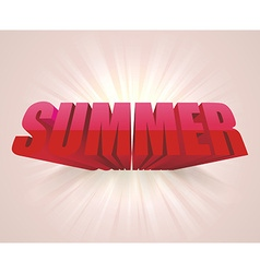 3D word SUMMER background vector image vector image
