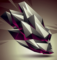 Digital 3d abstraction geometric polygonal element vector