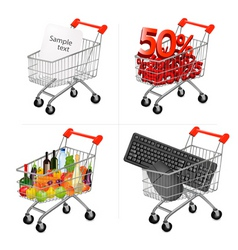 shopping carts vector image